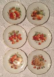 schumann cuisine schumann arzberg germany fruit gold trim 7 5 dessert plates set 6