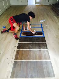 hardwood floor custom staining and bleaching service nc