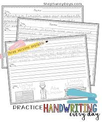 zaner bloser writing paper printable working handwriting into your literacy block sunny days in happy handwriting
