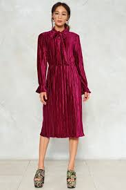 velvet dress attention pleats velvet dress shop clothes at gal