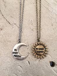 best necklace stores images Best friend necklace sun and moon necklace friendship necklace jpg