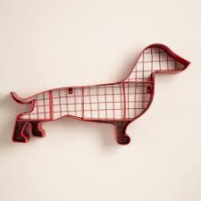 Wire Storage Unit Red Metal Dachshund Wall Storage Dachshunds Storage And Wiener Dogs