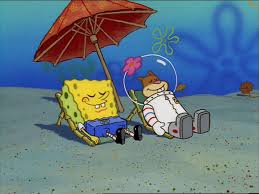 image spongebob and sandy sunbathing jpg encyclopedia