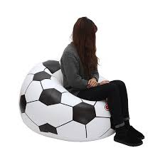 wish fashion inflatable sofa soccar football self bean bag chair