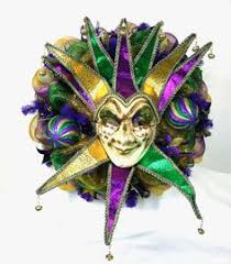 large mardi gras mask mardi gras purple green and gold deco mesh door wreath with large