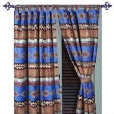 Western Drapery Fabric Western Curtains Western Window Treatments Drapery Valances