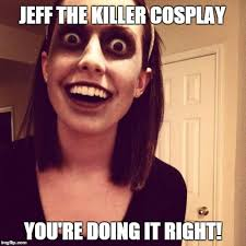 overly attached girlfriend jeff cosplay meme by izzyjarvisraven on
