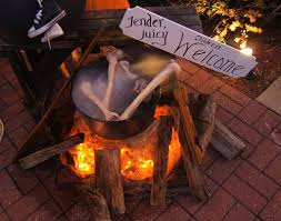 Outdoor Halloween Decorations Witches by 22 Best Halloween Cauldrons And Fire Images On Pinterest