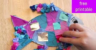 rainbow fish craft the kindergarten connection