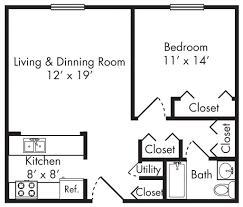Two Bedroom Flat Floor Plan Bedroom Flat House Plan