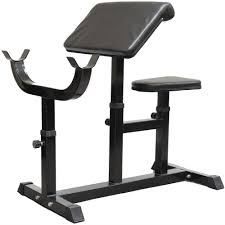 black preacher curl bench dumbbell bicep tricep exercise weight