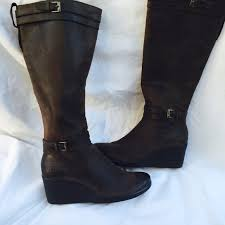 s boots wedge 64 ugg boots ugg australia sz 7 leather boots wedge heel