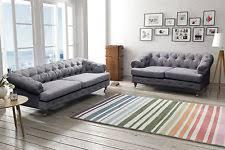 Linen Chesterfield Sofa by Linen Sofa Ebay