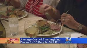 average cost of thanksgiving dinner