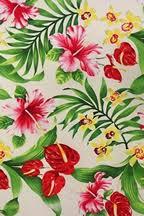 Hawaiian Curtain Fabric Hibiscus Flower Fabric Patterns Barkcloth Hawaii Tropical