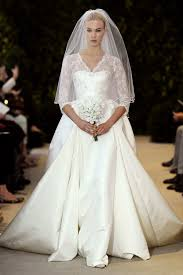 carolina herrera wedding dress lace and satin 3 4 sleeve wedding dress carolina herrera