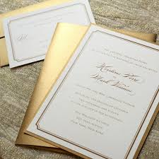 your own wedding invitations gold wedding invitations cloveranddot