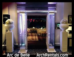 wedding chuppah rental modern lucite lucite acrylic wedding altar arch rentals at ritz