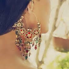 rajputi earrings manisha jewellers kundan jadau earring jewellery real gold