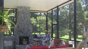 love the fireplace and grill and sink made inside screen pool all