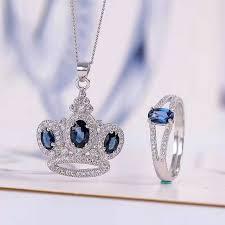 natural sapphire necklace images Vintage natural sapphire jewelry 4 6mm sapphire ring and sapphire jpg