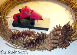the shady porch pine cone wreath for fall how to