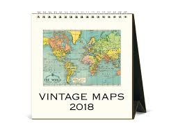 World Map Desk by Cavallini 2018 Desk Calendar Vintage Maps U2013 Jenni Bick Bookbinding