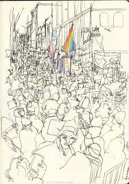 Balboa Naval Hospital Map Lgbt Solidarity Rally In New York City Urban Sketchers