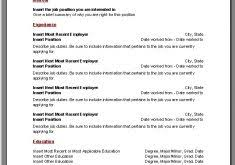 Microsoft Words Resume Templates Download Resume Templates Microsoft Word Haadyaooverbayresort Com