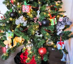disney tree decorations upright and caffeinated