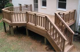Decking Banister Wood Deck Stair Railing Ideas Latest Door U0026 Stair Design