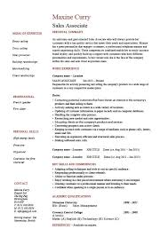 resume for retail sales associate objective sle salesperson resume sales skills associate objective