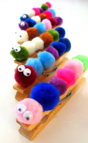 31 day challenge day 11 clothespin caterpillars craft