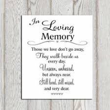 in memory of wedding program in loving memory printable memorial table wedding by dorindaart
