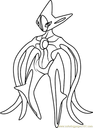 pokemon coloring pages of snivy deoxys pokemon coloring page free pokémon coloring pages