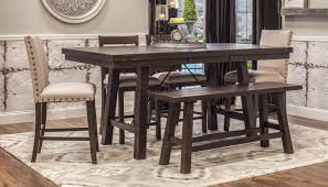 counter height collections home zone furniture dining room quick view dahlia table 4 counter height stools 2 parson chairs