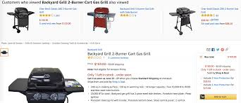 Backyard Grill 5 Burner by Backyard Grill 2 Burner Lp Gas Grill For 88 00