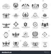 luxury logos set business sign restaurant stock vector 413935705