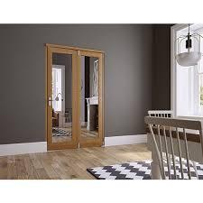 Wickes Sliding Patio Doors Wickes Newbury Internal Fold Flat 2 Door Set Oak Veneer 2007mm X