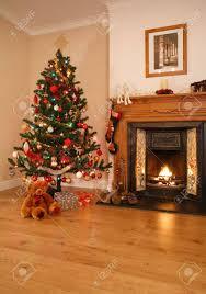 orange and blue christmas tree christmas lights decoration