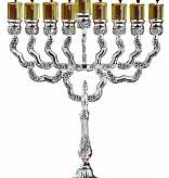 silver plated menorah floral silver plated menorah timeless table
