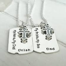 customized dog tag necklace with picture and matching dog tags boys dog tag necklaces