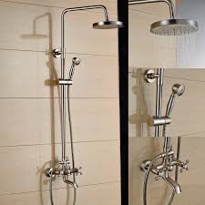 tub and shower faucet with handheld shower head