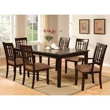 Dark Dining Room Table by Dark Brown Wood Dining Set Dining Room Sets Kitchen U0026 Dining