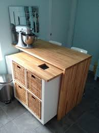 Portable Kitchen Island Ikea Marvelous Movable Kitchen Islands Ikea With Wicker Basket Storage