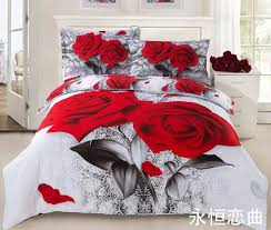 Roses Bedding Sets Wholesale On Sale 100 Cotton 3d Painting Effect