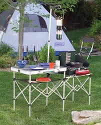 camping table portable outdoor kitchen cooking gear folding camp