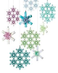 eric pike u0027s glittered snowflake ornaments craft punches