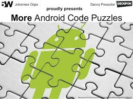 android puzzle more android code puzzles