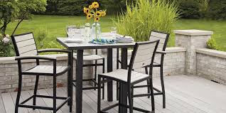 Bar Height Patio Furniture Sets Fabulous Outdoor Bistro Table Bar Height Pub Sets Throughout And